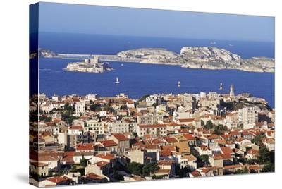 Views of Chateau D'If and Frioul Island, Marseille, Provence, France-John Miller-Stretched Canvas Print