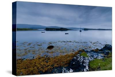 Strange Twilight Seascape of Loch Dunvegan on the Isle of Skye-Charles Bowman-Stretched Canvas Print