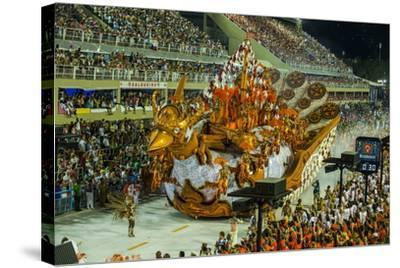 Samba Parade at the Carnival in Rio De Janeiro, Brazil, South America-Michael Runkel-Stretched Canvas Print