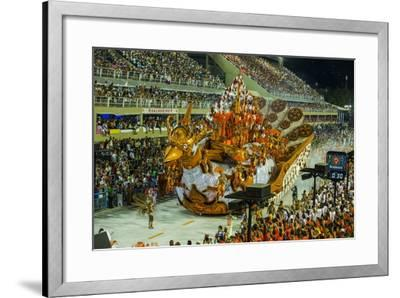 Samba Parade at the Carnival in Rio De Janeiro, Brazil, South America-Michael Runkel-Framed Photographic Print