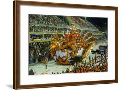 Samba Parade at the Carnival in Rio De Janeiro, Brazil, South America-Michael Runkel-Framed Photographic Print