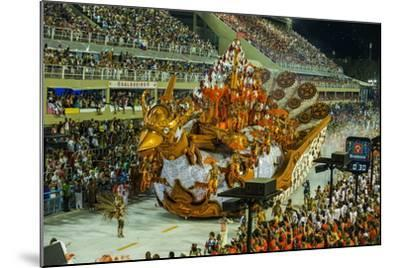 Samba Parade at the Carnival in Rio De Janeiro, Brazil, South America-Michael Runkel-Mounted Photographic Print