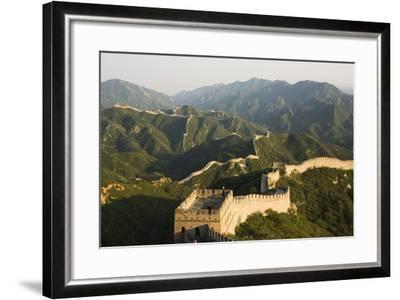 Great Wall of China at Badaling-Christian Kober-Framed Photographic Print