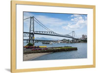 Bridge Linking Florianopolis on Ilha Catarina (Santa Catarina Island) with the Continent-Michael Runkel-Framed Photographic Print