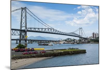 Bridge Linking Florianopolis on Ilha Catarina (Santa Catarina Island) with the Continent-Michael Runkel-Mounted Photographic Print