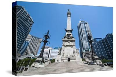 Soldiers' and Sailors' Monument, Indianapolis, Indiana, United States of America, North America-Michael Runkel-Stretched Canvas Print