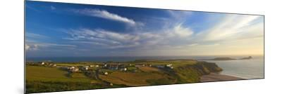 Rhossili Bay, Gower, Peninsula, Wales, United Kingdom, Europe-Billy Stock-Mounted Photographic Print