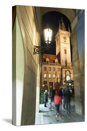 Gothic Old Town Hall at Twilight-Richard Nebesky-Stretched Canvas Print