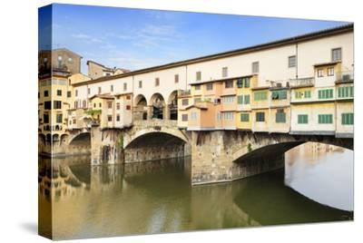 Ponte Vecchio, Florence, UNESCO World Heritage Site, Tuscany, Italy, Europe-Markus Lange-Stretched Canvas Print