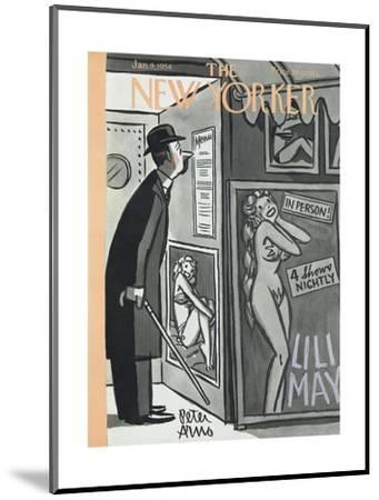 The New Yorker Cover - January 9, 1954-Peter Arno-Mounted Premium Giclee Print
