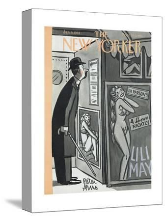 The New Yorker Cover - January 9, 1954-Peter Arno-Stretched Canvas Print