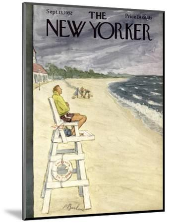 The New Yorker Cover - September 13, 1952-Perry Barlow-Mounted Premium Giclee Print