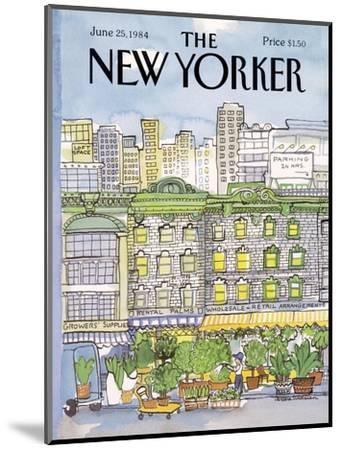 The New Yorker Cover - June 25, 1984-Barbara Westman-Mounted Premium Giclee Print