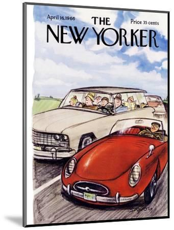 The New Yorker Cover - April 16, 1966-Charles Saxon-Mounted Premium Giclee Print