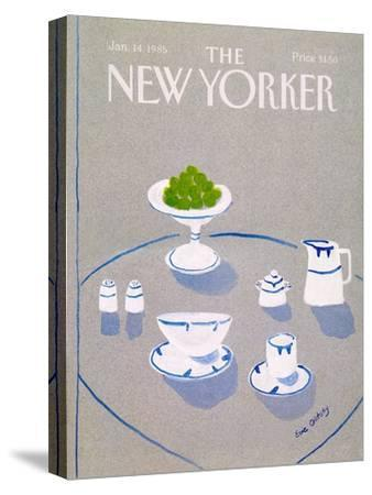 The New Yorker Cover - January 14, 1985-Eve Olitsky-Stretched Canvas Print