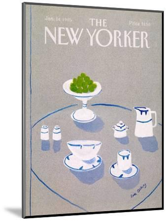 The New Yorker Cover - January 14, 1985-Eve Olitsky-Mounted Premium Giclee Print
