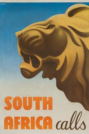 South Africa Calls Poster-Gayle Ullman-Stretched Canvas Print