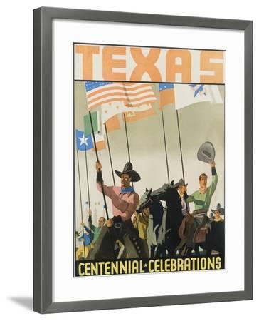 Texas Centennial Celebrations Poster--Framed Giclee Print