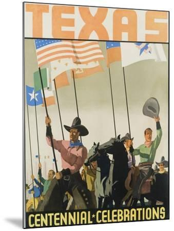 Texas Centennial Celebrations Poster--Mounted Giclee Print