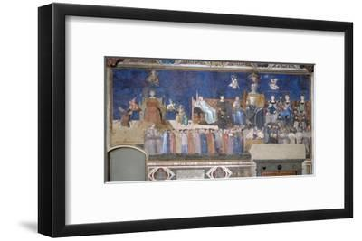 Allegory of Good and Bad Government: Good Government-Ambrogio Lorenzetti-Framed Giclee Print