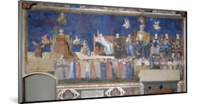 Allegory of Good and Bad Government: Good Government-Ambrogio Lorenzetti-Mounted Giclee Print