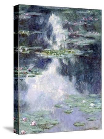 Pond with Water Lilies-Claude Monet-Stretched Canvas Print