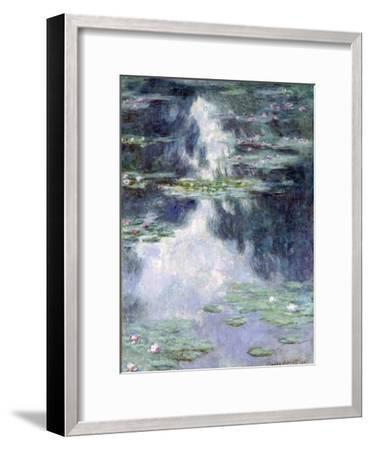 Pond with Water Lilies-Claude Monet-Framed Giclee Print
