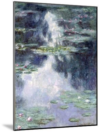 Pond with Water Lilies-Claude Monet-Mounted Giclee Print