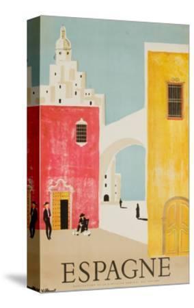 Espagne Poster-Bernard Villemot-Stretched Canvas Print