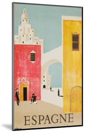 Espagne Poster-Bernard Villemot-Mounted Giclee Print