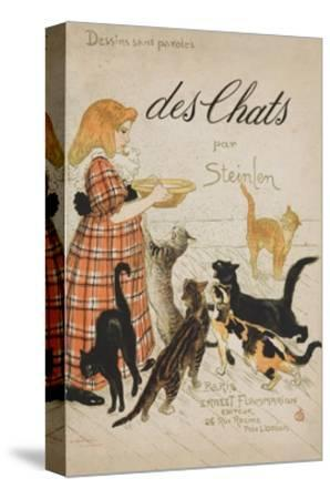 Des Chats Book Cover-Th?ophile Alexandre Steinlen-Stretched Canvas Print