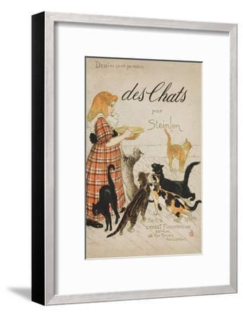 Des Chats Book Cover-Th?ophile Alexandre Steinlen-Framed Giclee Print