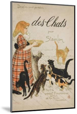 Des Chats Book Cover-Th?ophile Alexandre Steinlen-Mounted Giclee Print