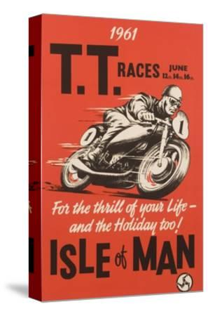 T.T. Races Isle of Man Poster--Stretched Canvas Print