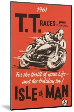 T.T. Races Isle of Man Poster--Mounted Premium Giclee Print