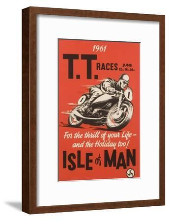 T.T. Races Isle of Man Poster--Framed Premium Giclee Print