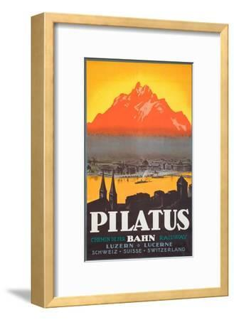 Pilatus Poster--Framed Giclee Print