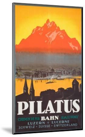 Pilatus Poster--Mounted Giclee Print