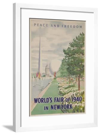 1940 New York World's Fair Poster--Framed Giclee Print