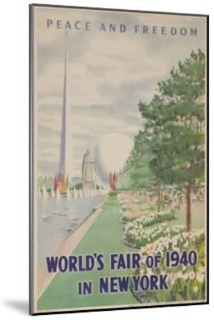 1940 New York World's Fair Poster--Mounted Giclee Print