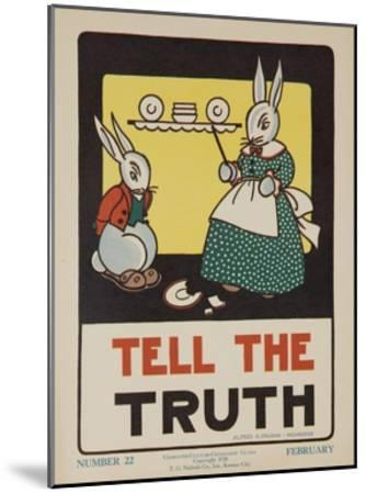 1932 American Citizenship Poster Tell the Truth--Mounted Giclee Print