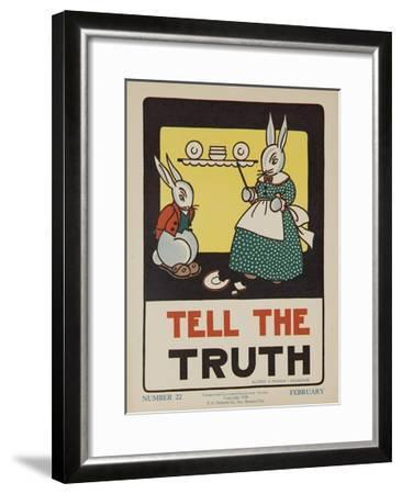 1932 American Citizenship Poster Tell the Truth--Framed Giclee Print