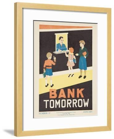 1938 Character Culture Citizenship Guide Poster, Bank Tomorrow--Framed Giclee Print