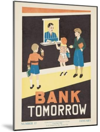 1938 Character Culture Citizenship Guide Poster, Bank Tomorrow--Mounted Giclee Print