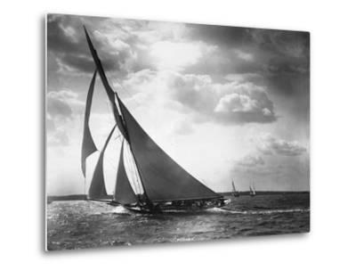 Sailing Yacht Mohawk at Sea--Metal Print