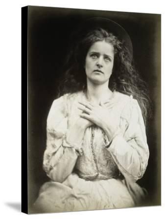 The May Queen-Julia Margaret Cameron-Stretched Canvas Print