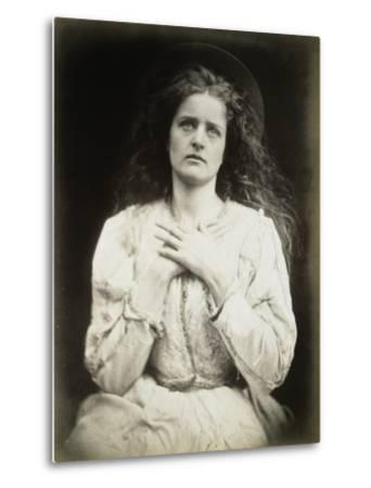 The May Queen-Julia Margaret Cameron-Metal Print