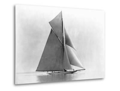 Yacht Reliance at Full Sail--Metal Print
