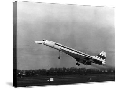 Taking Off for the First Time at 3.30 P.M. Is Concorde 001--Stretched Canvas Print