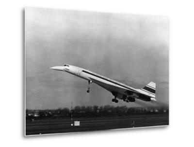 Taking Off for the First Time at 3.30 P.M. Is Concorde 001--Metal Print